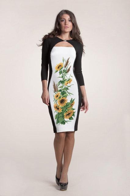 Вышитое женское платье (заготовка) СЖ-68
