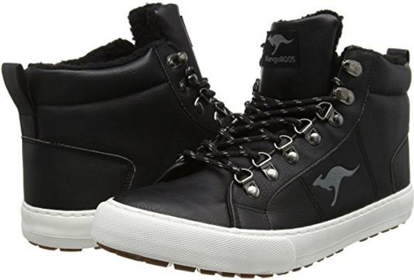 Оригинальные ботинки на меху KangaROOS-KaVu V черные зимние