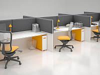 Акустическая ширма для офисных столов Ecosound Quadro Screen grey 100х50 см 50мм цвет серый