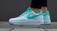 Кроссовки женские NIKE Air Force 1 Flyknit Green/White