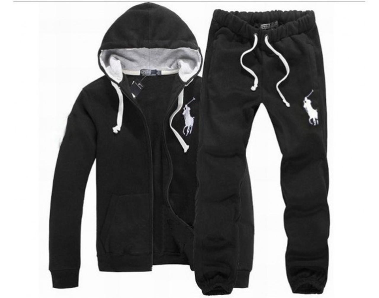 4ccf0474589e Теплый спортивный костюм мужской POLO (трехнитка), черный - LADYFASHION в  Одессе