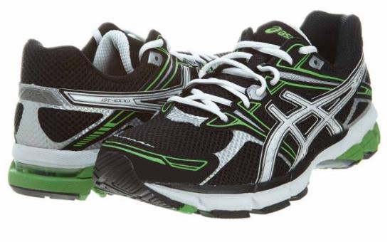 Кроссовки мужские ASICS GT-1000 Black Green (Cетка)