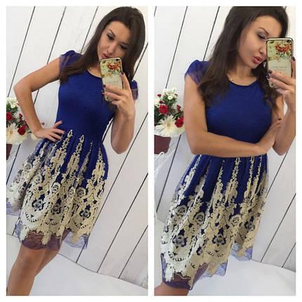 Платье украшенное золотой вышивкой     , фото 2