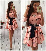 Стильное приталенное платье   , фото 2