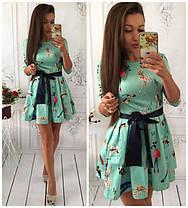 Стильное приталенное платье   , фото 3