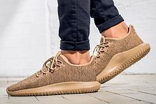 Женские кроссовки Adidas TUBULAR Shadow KNIT Cardboard бежевые