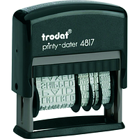 Бухгалтерский датер trodat 4817-укр с 12 терминами, украинский шрифт 3,8 мм