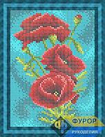 Схема для полной вышивки бисером - Цветы полевые маки, Арт. ДБп5-085