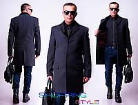 Мужское кашемировое пальто на пуговицах