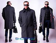Стильное мужское кашемировое пальто,утепленное