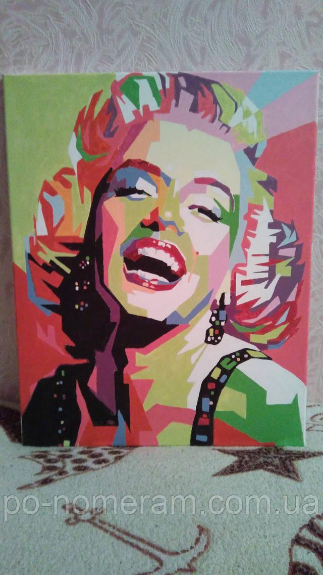 Нарисованная картина Улыбка Мерлин Монро