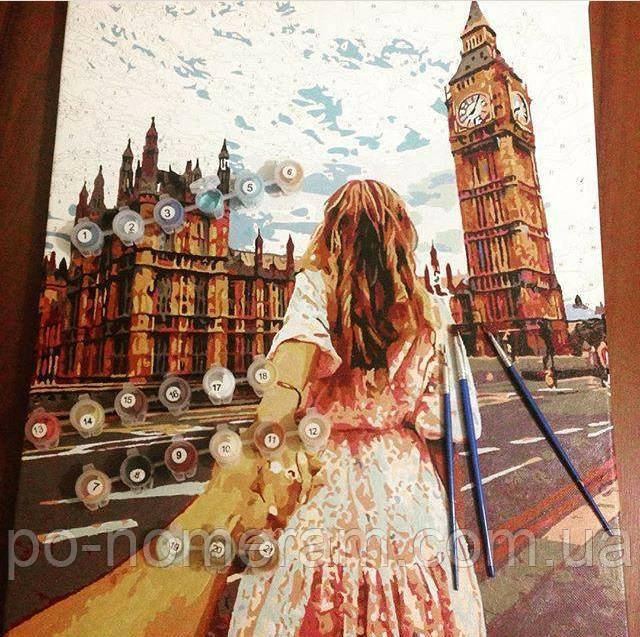 Нарисованная картина Следуй за мной Лондон