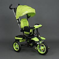 Велосипед 3-х колёсный BestTrike Салатовый арт. 6699 (надувные колёса, поворотное сид., фара, ключ зажигания)