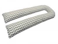 *Подушка для беременных KIDIGO U-образная Зигзаг (с наволочкой)