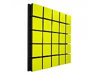 Акустический панель Ecosound Tetras Wood Yellow 50x50см 50мм цвет жёлтый, фото 1