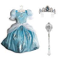 Карнавальный костюм Золушка: платье+ тиара + волшебная палочка со светоэффектами, фото 1