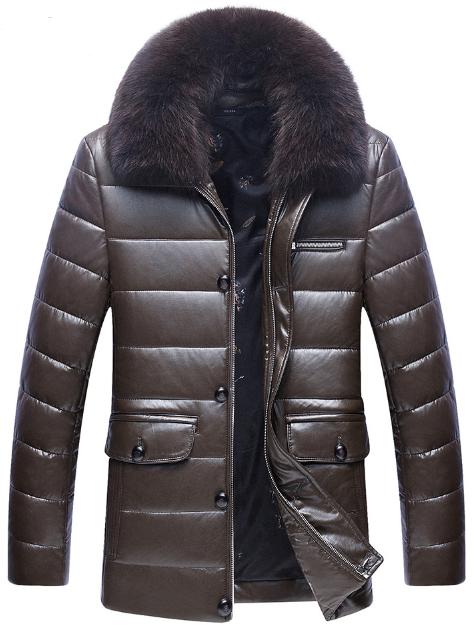 a69e90f44395b Мужская зимняя кожаная куртка. Модель 61688 - купить Украина ...