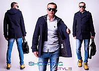 Кашемировое пальто со съемным капюшоном,короткое