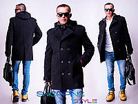 Стильное кашемировое пальто со съемным капюшоном West Fashion