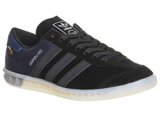 Кроссовки мужские Adidas HAMBURG черно/синие, фото 2