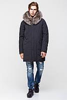 Мужская зимняя куртка с натуральной меховой опушкой