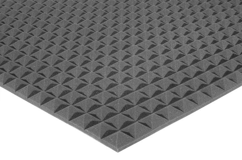 Акустичний поролон Ecosound піраміда 20мм 2мх1м Колір чорний графіт