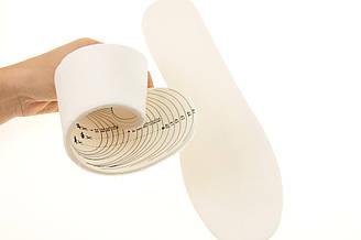 """Зимние стельки для обуви """"Теплый мех ягненка на латексной пене"""" обрезные размер 28-45 (28,3см)"""