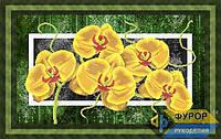 Набор для частичной вышивки бисером - Красивая орхидея на ветке, Арт. НБч-009