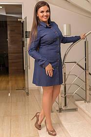 Платье джинсовое  (48-54)