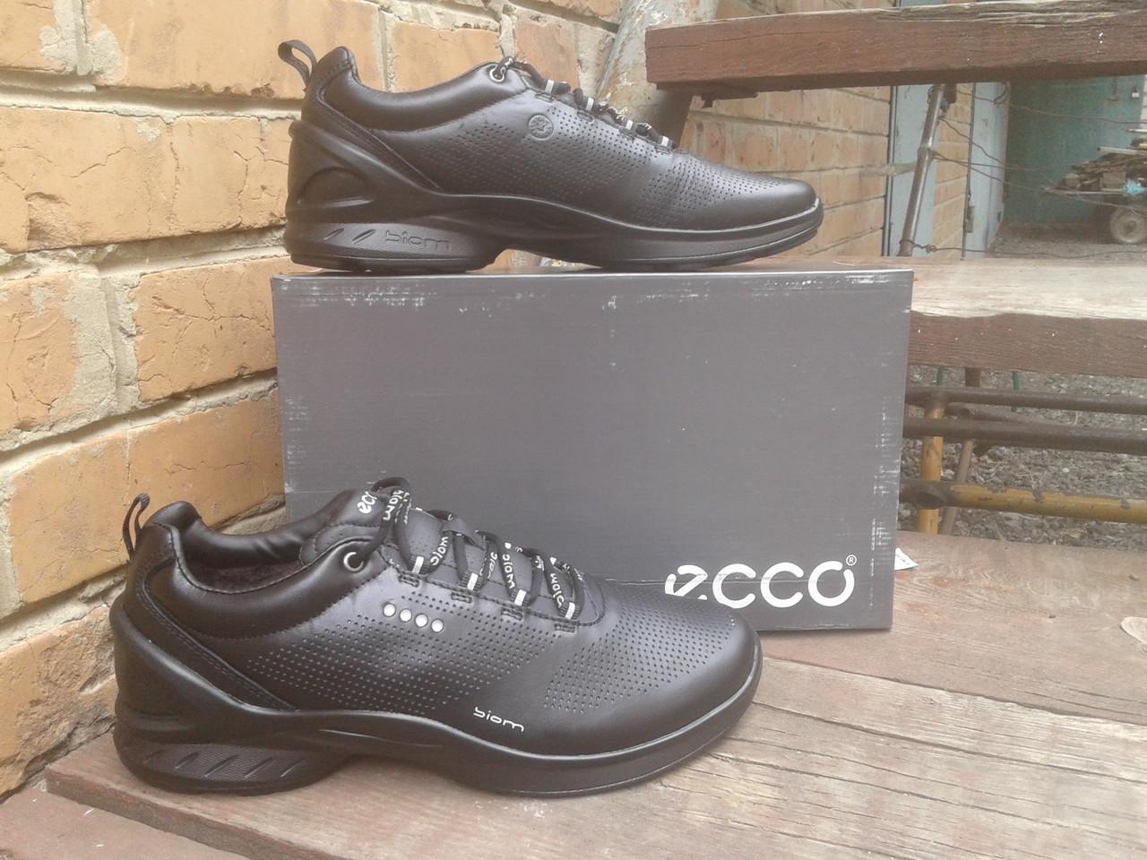 Кроссовки мужские с мехом ECCO 860020 черные (кожа)