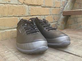 Кроссовки мужские с мехом Ecco Biom кожа черные, фото 3