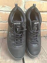 Кроссовки мужские с мехом Ecco Biom кожа черные, фото 2
