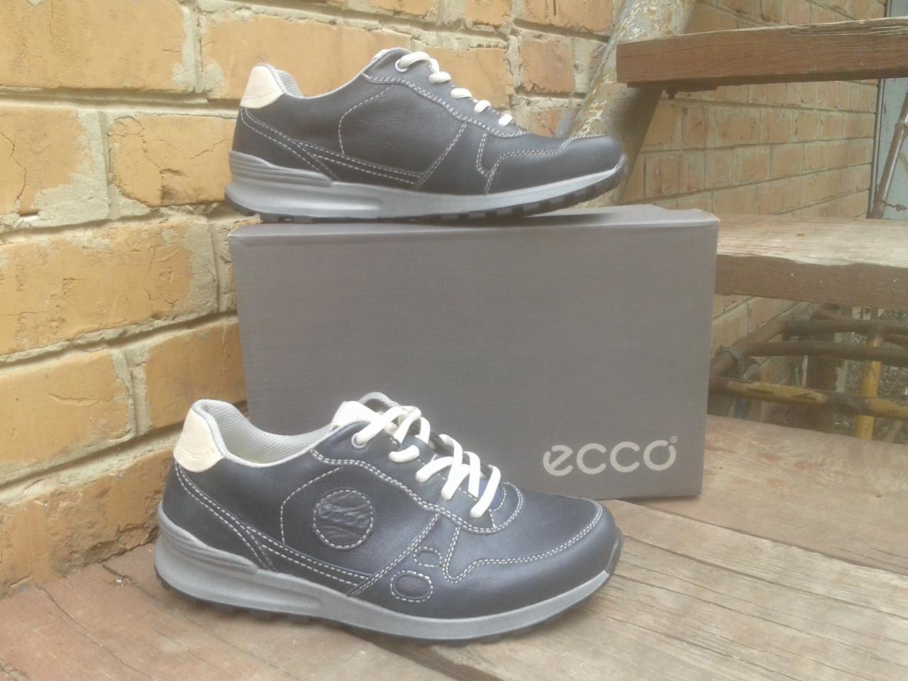 Кроссовки мужские ECCO 538564 Blue/dirty color (кожа)
