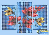 Набор для полной вышивки бисером - Триптих цветы на ветке, Арт. МКп-011