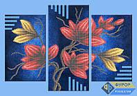 Набор для частичной вышивки бисером - Триптих цветы на ветке, Арт. МКч-013