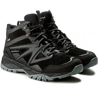 Мужские ботинки зимние высокие Merrell Capra Bolt Mid WP J35803 Черные