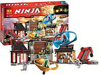 "Конструктор Bela Ninja ""Боевая площадка для аэроджитцу"" арт. 10527 (аналог Lego Ninjago 70590)"