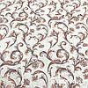 Льняная ткань с цветами 100% лен, цвет 34/1, фото 2