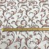 Льняная ткань с цветами 100% лен, цвет 34/1, фото 3