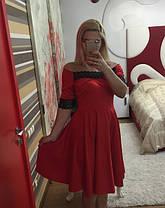 Платье трикотажное с кружевом   48+, фото 2