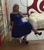 Платье трикотажное с кружевом   48+, фото 3