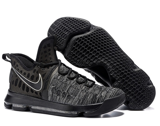 Кроссовки мужские NIKE Zoom KD9 Black/Grey Черные, фото 2