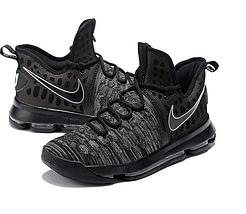 Кроссовки мужские NIKE Zoom KD9 Black/Grey Черные, фото 3