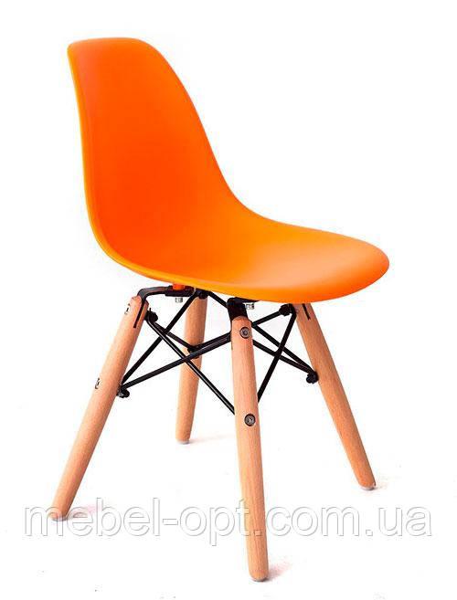 Детский стул AC-0117W Eames DSW Kids оранжевый пластик, дизайн Charles & Ray Eames
