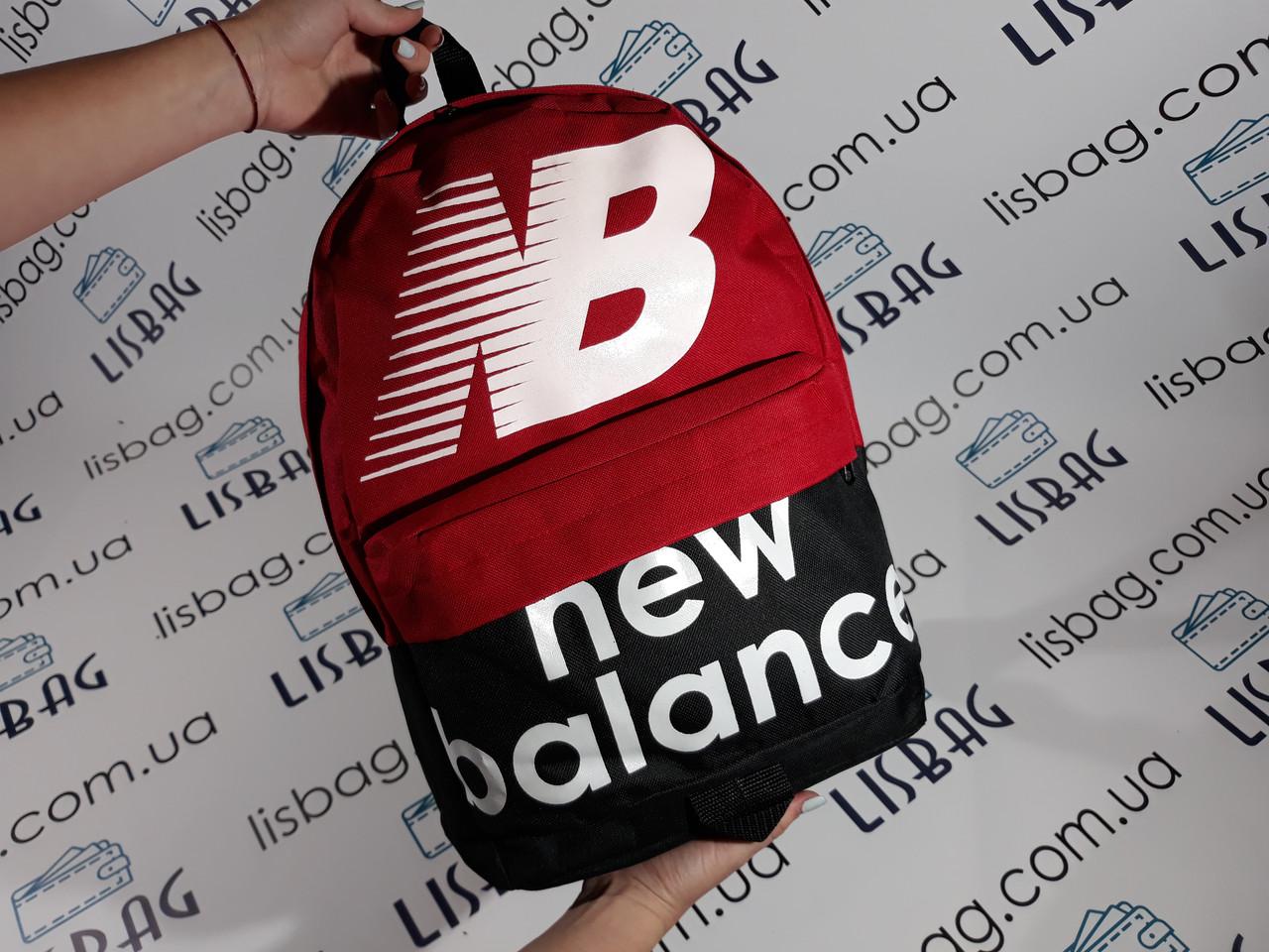 Рюкзак new balance реплика текстиль красный