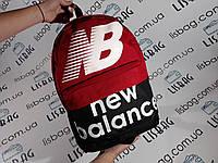 Рюкзак new balance реплика текстиль красный, фото 1