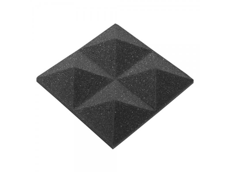 Акустичний поролон Ecosound піраміда 30мм Micro, 10х10см Колір чорний графіт