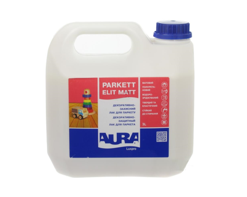 Лак поліуретановий AURA LUXPRO PARKETT ELIT MATT паркетний 3л