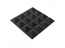 Акустичний поролон Ecosound піраміда 30мм Micro, 20х20см Колір чорний графіт