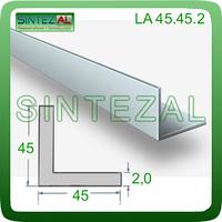 Уголок алюминиевый стандартный 45х45х2,0, Без покрытия